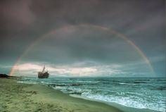 Shipwreck@Gythio, Greece     Photo by Nikos Koumaris #rainbows