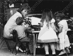 Princess Diana-- having a tea party