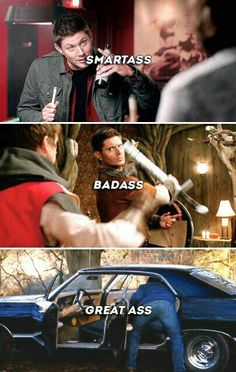 Supernatural and Deadpool! Love them both so much so naturally I love this! Castiel, Supernatural Fandom, Supernatural Bloopers, Supernatural Imagines, Dean Winchester Supernatural, Dean Winchester Quotes, Supernatural Symbols, Supernatural Impala, Supernatural Tattoo