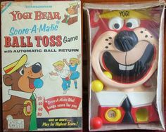 TRANSOGRAM: 1960 YOGI BEAR Score-A-Matic Ball Toss Game