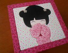 Caixa Patch Embutido Kokeshi | Patch in Box | Elo7