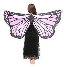 Hot !!! KIMODO Weiche Stoff Schmetterlingsflügel Schal Fee Damen Nymph Pixie Kostüm Zubehör (J)