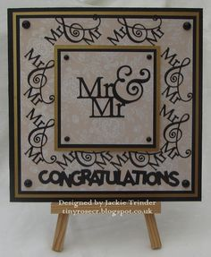 Tinyrose's Craft Room: Mr and Mr Wedding Card