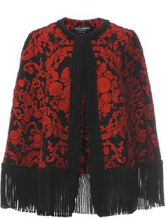 Dolce & Gabbana Embroidered Cady Cape With Passementerie Trim on shopstyle.com