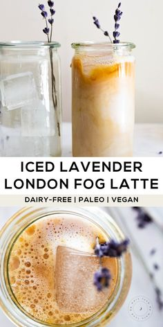Super refreshing comforting and energizing this Iced Lavender London Fog Latte Recipe will be your new favorite! Made with your favorite non-dairy milk black or Earl Grey tea and my homemade lavender concentrate! - Milk - Ideas of Milk Yummy Drinks, Healthy Drinks, Healthy Recipes, Nutrition Drinks, Refreshing Drinks, Vegan Tea Recipes, Recipes With Milk, Lemon Balm Recipes, Sun Tea Recipes