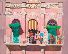 Midday on the balcony (oil on canvas), Morrocco, Leon / Private Collection / Bridgeman Images History Images, Art History, Selling Art, Surprise Gifts, Color Of The Year, New Artists, Pantone Color, Toy Chest, Oil On Canvas