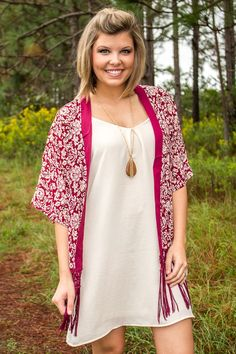 Whispering Pines Cardigan - Wine - New Arrivals
