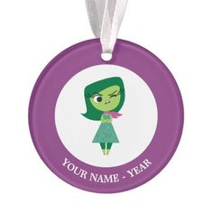 Inside Out | Disgust arms Crossed Add Your Name Ornament