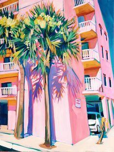 Sari Not Sorry Art from Sari Shryack — Florida Palms Painting Inspiration, Art Inspo, Murs Roses, Arte Sketchbook, Guache, Painting & Drawing, Gouache Painting, Drawing Tips, Amazing Art