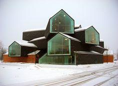 Herzog & de Meuron - VitraHaus, Weil am Rhein. Now nearing completion. Architecture Design, Beautiful Architecture, Contemporary Architecture, Pavilion Architecture, Building Architecture, Sustainable Architecture, Residential Architecture, Future House, My House