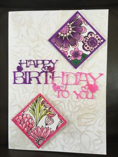 Crafters Companion's Colorista print out, Spectrum Noir Pens, Phill Martin's Happy Birthday die, Creative Expressions Pearl Lustre Gilding Polish