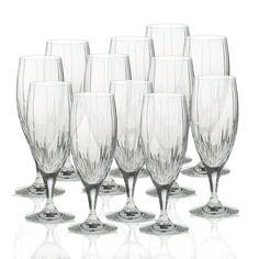 Crystal Iced Beverage Glasses, Set of 12