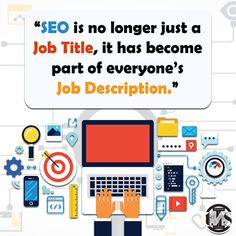 SEO is no longer just a job title, it has become part of everyone's job description. Web Design Services, Seo Services, Content Marketing, Digital Marketing, Thursday Motivation, Professional Website, Job Title, Job Description, Search Engine Optimization