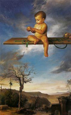 Magic Realism   Claudio Sacchi 1953   Italian Portrait painter