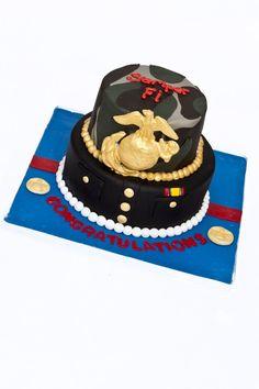 c66275f1 USMC Dress blues and camor Military Cake, Military Wedding, Usmc Dress  Blues, Us