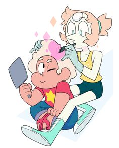 """""""I've even thought about dying my hair pink. Perla Steven Universe, Steven Universe Drawing, Greg Universe, Steven Universe Memes, Universe Art, Steven Univese, Pearl Steven, Lapidot, Cartoon Network"""
