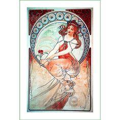 fabric panel - painting by Alphonse Mucha (43)