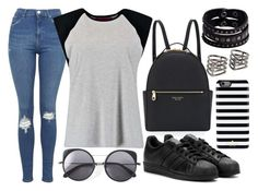 """405"" by dorisjurisic ❤ liked on Polyvore featuring moda, MANGO, Henri Bendel, Kate Spade, adidas, Topshop, Boohoo, Wood Wood i Replay"