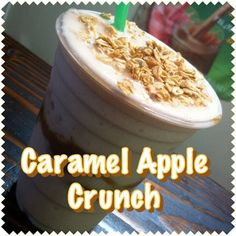 Caramel Apple Crunch!  1 scoop F1 French Vanilla 1 scoop F1 Dulce de Leche 2 scoops Vanilla Protein Drink Mix 1 tsp Apple flavor Active Fiber Complex 8 oz water 1 cup ice Blend  Top it off with a little granola!  Enjoy!