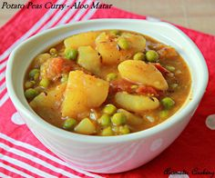 Aloo Matar/ Potato Peas Curry, the most common dish on a restaurant or party menu, can be both a dry curry or a gravy one and ...