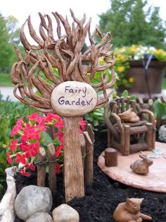 Let everyone know your garden is meant for the fairies!
