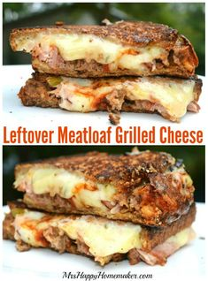 Got leftover meatloaf? Turn it into these insanely delicious Meatloaf Grilled Cheese Sandwiches. You're gonna want to make meatloaf just to eat these! I love transforming leftovers into a whole new delicious dinner! I found website with best way to Grill Sandwich, Meatloaf Sandwich, Soup And Sandwich, Sandwich Recipes, Sandwich Sides, Grilled Cheese Recipes, Beef Recipes, Cooking Recipes, Grilled Cheeses