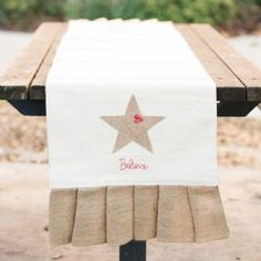 Believe Burlap table runner for that rustic themed Christmas table!