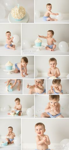 Simple and bright cake smash | Jessica Nip Photography | info@jessicanip.com | Toronto, Canada