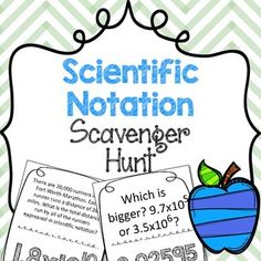 This scientific notation scavenger hunts allow students to have a movement-based way of reviewing concepts to math problems. How are your scavenger hunts different from others?My scavenger hunts are completely different than anything on TPT, and anywhere else.