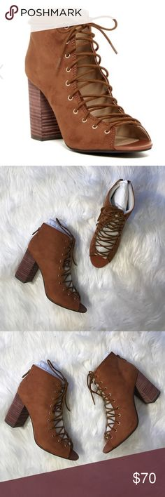 • Chinese Laundry • Brown Suede Lace Up Booties 8 - Chinese Laundry  - New in Box - Size 8 - Brown Suede  - Lace Up Booties Chinese Laundry Shoes Heeled Boots