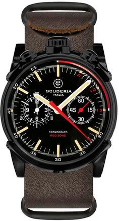 CT Scuderia Watch Cinghia Leggera Chronograph #bezel-fixed #bracelet-strap-leather #brand-ct-scuderia #case-depth-13mm #case-material-black-pvd #case-width-44mm #chronograph-yes #classic #delivery-timescale-4-7-days #dial-colour-black #gender-mens #movement-quartz-battery #official-stockist-for-ct-scuderia-watches #packaging-ct-scuderia-watch-packaging #style-sports #subcat-red-zone #supplier-model-no-cs10110 #warranty-ct-scuderia-official-2-year-guarantee #water-resistant-100m