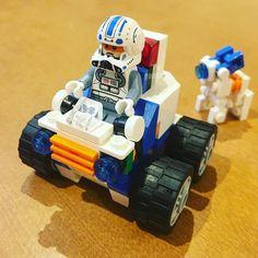 A new vehicle.  #lego #legorobot #legobot #legomecha #legomech #legomocs #legomodel #legophotography #legography #lego_hub #toyslagram #toyslagram_lego #legolife #legocustom #toyartistry #instalego #レゴ #ロボット  #legostarwars #starwars #stormtrooper #minifig #minifigures #スターウォーズ #ストームトルーパー #ミニフィグ