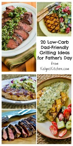 20 Low-Carb Dad-Friendly Grilling Ideas for Father's Day | Kalyn's Kitchen®