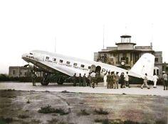الخطوط الجوية الهولندية في مطار المثنى عام 1936