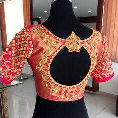 For Order pls whatsapp 7659830951 Blouse Back Neck Designs, Blouse Designs Silk, Saree Blouse Patterns, Bridal Blouse Designs, Blouse Neck, South Indian Blouse Designs, Designer Blouses Online, Stylish Blouse Design, Work Blouse