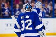 TAMPA, FL - JANUARY 5: Adam Wilcox #32 of the Tampa Bay Lightning skates during pregame warmups against the Nashville Predators at Amalie Arena on January 5, 2017 in Tampa, Florida. (Photo by Scott Audette/NHLI via Getty Images)