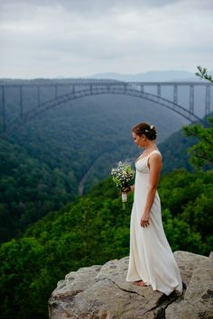 Long Point Trail elopement.... a New River Gorge, Fayetteville West Virginia wedding by The Oberports