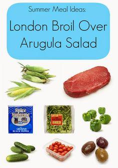 Easy Summer Meal Idea:  London Broil over Arugula Salad