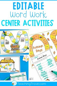 Editable games are perfect for differentiating your sight words, phonics and spelling. With 38 different games in this pack, you will have a wide range of sight word, phonics, spelling or word work games you can create in seconds! It is easy to create differentiated centers for all your students. #sightwords #wordwork #sightwordgames