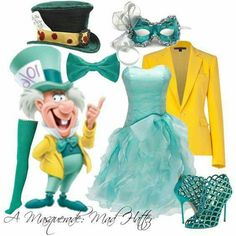 The Joy of Disney: Mad Hatter (Alice in Wonderland) Cute Disney Outfits, Disney Themed Outfits, Disney Bound Outfits, Disney Dresses, Cute Outfits, Masquerade Outfit, Masquerade Party, Masquerade Masks, Masquerade Dresses