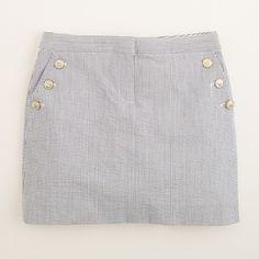 JCrew Factory. Seersucker skirt. Also comes in pink.
