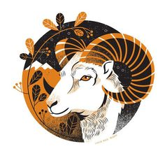 Aries X 9 par LucieRicePrints sur Etsy Aries Art, Zodiac Art, Aries Zodiac, Horoscope Capricorn, Capricorn Facts, Art Et Illustration, Illustrations, Art Zodiaque, Widder Tattoos