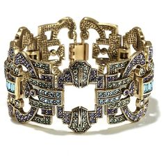 """Shirli Stunning"" Crystal-Accented Geometric-Link Bracelet at HSN.com"