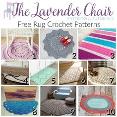 Everone loves to have several crochet rug patterns on hand! These rugs are gorgeous and they also make the perfect pattern for a doily or circular blanket.