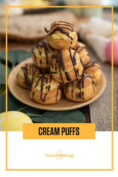 Make sure to save room for dessert this Easter because you're going to want to eat one (or five) of these Cream Puffs during Easter brunch. Puff up your baking skills today. Easter Recipes, Brunch Recipes, Family Recipes, Family Meals, Vegetarian Pastries, Incredible Eggs, Profiteroles, Easter Brunch, Cuban