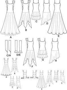 LATIN DANCE COSTUME SEWING PATTERNS | New Sewing Pattern