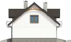 Elewacja prawa projektu Dom Dla Ciebie 3 bez garażu [B] Home Fashion, Dom, Cabin, House Styles, Home Decor, Decoration Home, Room Decor, Cottage, Interior Decorating