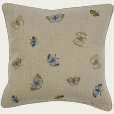 Butterflies  on flax £104 by Chelsea Textiles