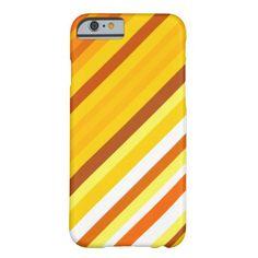 Yellow, Orange and White Sunset-Inspired Stripes