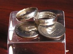 Cómo hacer un anillo de plata de 25 centavos (de un quarter americano)